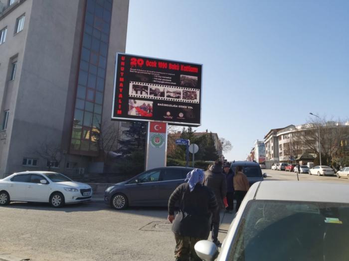 Des images reflétant la tragédie du 20 Janvier projetées sur les panneaux publicitaires en Turquie