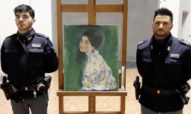 Painting found inside Italian gallery wall confirmed as a Gustav Klimt