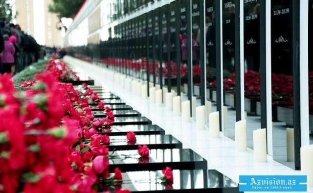 20. Januar -   Seite des Heldentums in der Geschichte des Kampfes um die Unabhängigkeit Aserbaidschans
