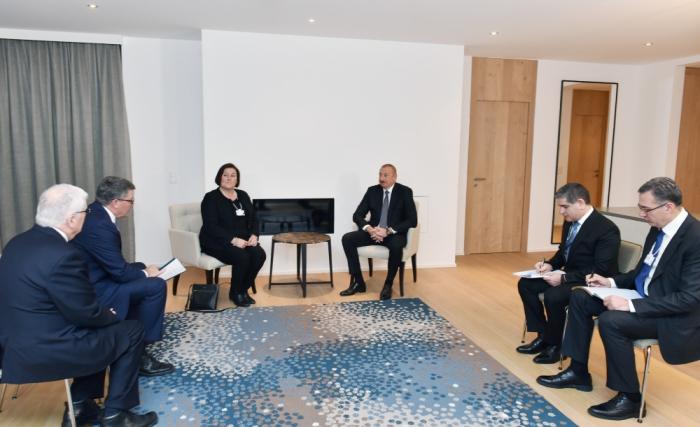 Prezident Davosda mühüm görüşlər keçirdi - FOTO (Yenilənib)