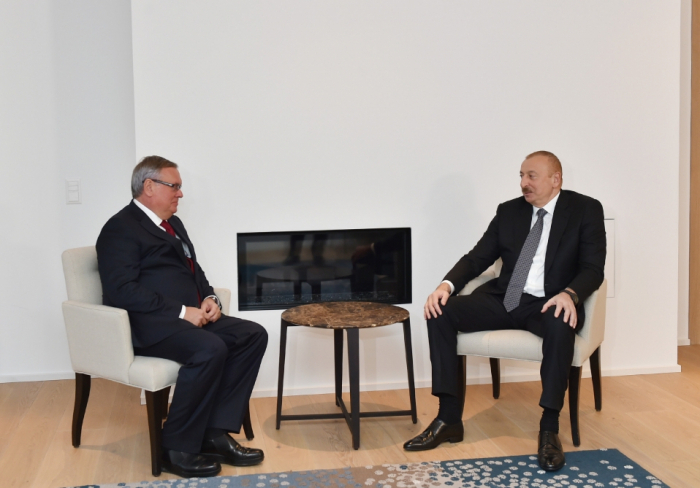 Le président Ilham Aliyev entame une visite de travail en Suisse