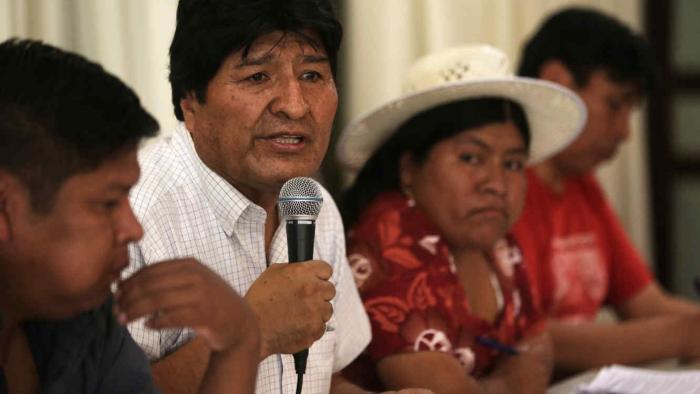 Evo Morales anuncia desde Argentina su candidato a la presidencia de Bolivia