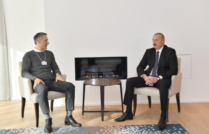 Prezidentin Davosda görüşləri davam edir - FOTO