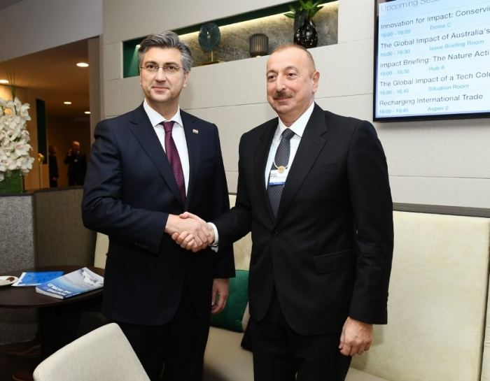 Le président azerbaïdjanais rencontrele Premier ministre de la République de Croatie