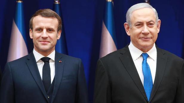 """En Israël, Macron défend son """"combat de chaque jour"""" contre l"""