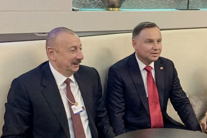 Ilham Aliyeva rencontré son homologue polonais à Davos