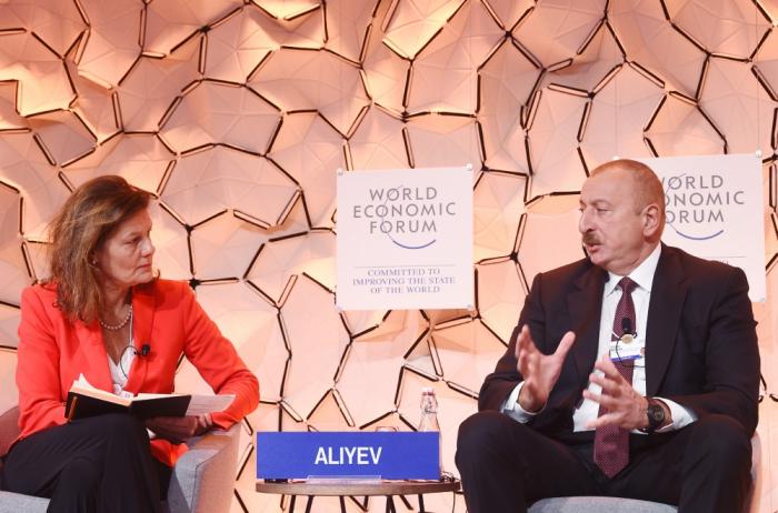 Davos: le président azerbaïdjanais participe à un panel sur le thème «Une vision stratégique : Eurasie»