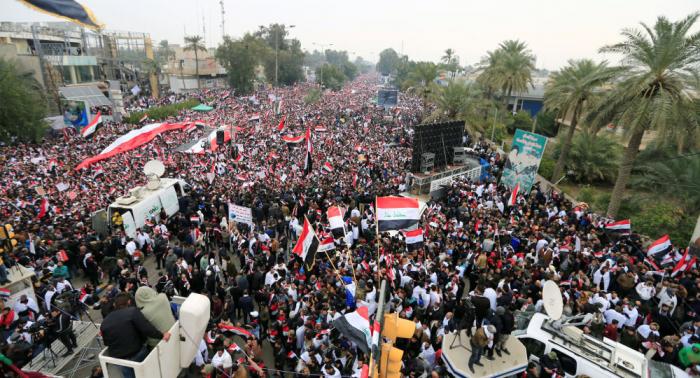 """Bagdad: """"Millionenmarsch"""" gegen US-Präsenz im Irak – Video"""