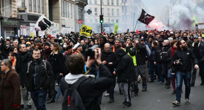 En VIVO:   Sindicatos franceses vuelven a protestar contra la reforma de las pensiones