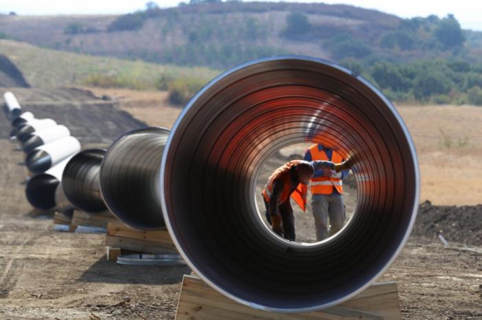 Proyecto de tubería TAP, 91 por ciento completado