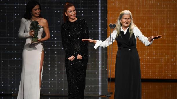 Con 84 años, Benedicta Sánchez se lleva el Premio Goya a la mejor actriz revelación