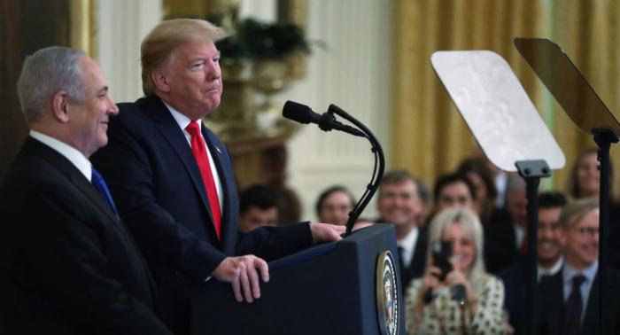 Trump zeigt neue Karte Palästinas