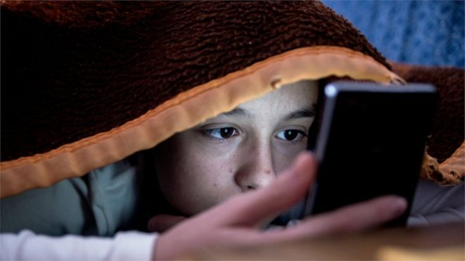 Most children sleep with mobile phone beside bed