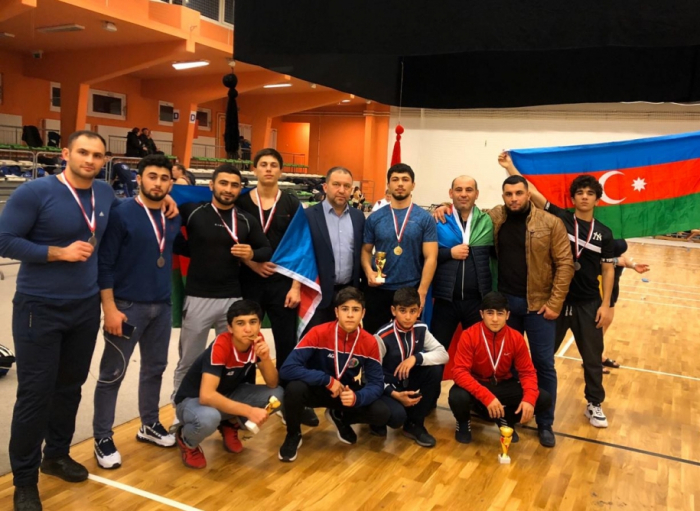 Azerbaijani sumo wrestlers bring home 11 medals from European Cup