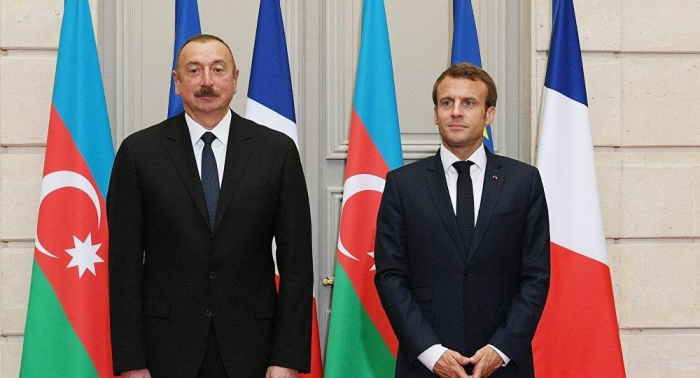 Azerbaijani, French presidents discuss bilateral ties, Karabakh conflict settlement