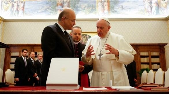 البابا يدعم دعوة العراق لاحترام سيادته الوطنية