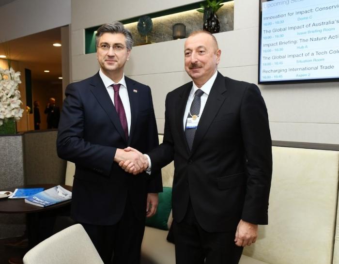 Prezident Xorvatiyanın Baş Naziri ilə görüşüb