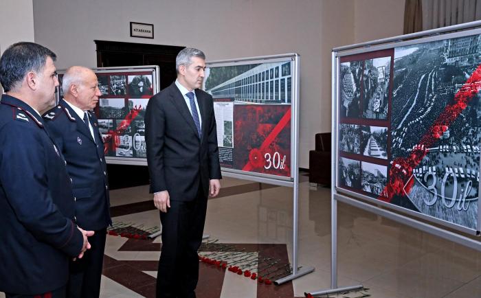 Dövlət Miqrasiya Xidmətində 20 Yanvar faciəsi anılıb - FOTOLAR