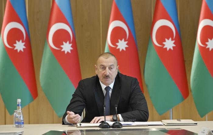 """الرئيس: """"أذربيجان في صدارة الدوري ، وأرمينيا في الدوري الثالث"""""""