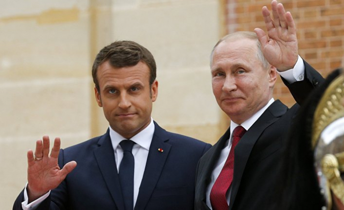 Putin və Makron Fələstinə gedir