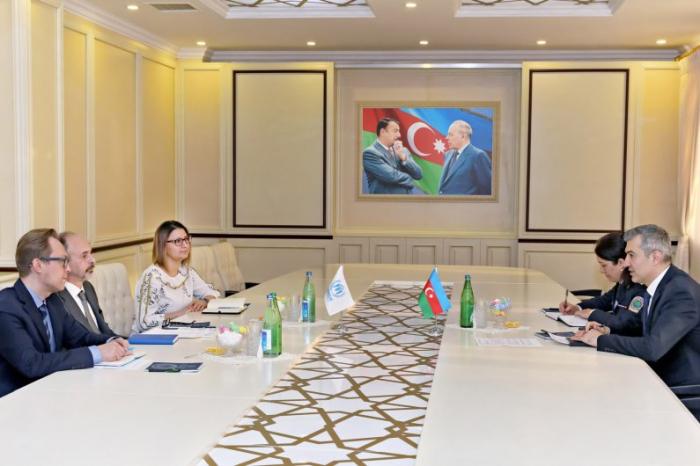 Vusal Huseynov meets with UNHCR Representative in Azerbaijan