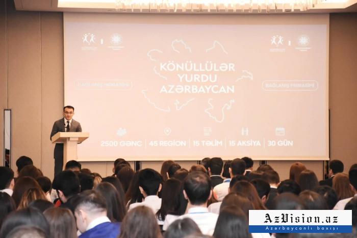 """""""Könüllülər Yurdu - Azərbaycan"""" layihəsi başa çatıb - FOTOLAR"""