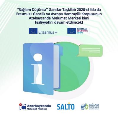 """""""Sağlam Düşüncə"""" Gənclər Təşkilatı 2020-ci il üçün Azərbaycanda Məlumat Mərkəzi seçildi"""