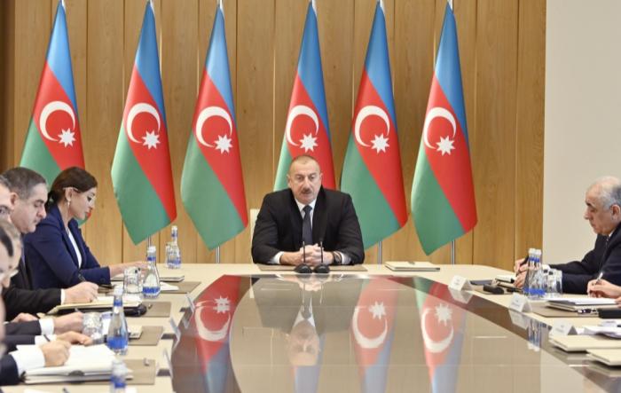 """الرئيس الهام علييف:  """"سوف تستمر الإصلاحات الجمركية"""""""
