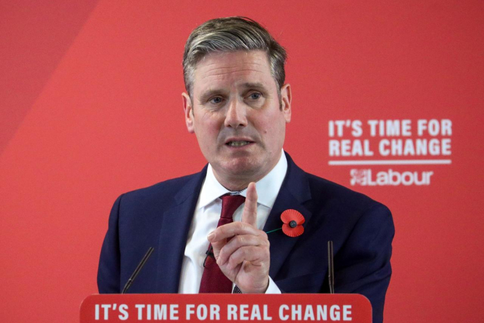 UK Labour Party Brexit spokesman Starmer ahead in leadership race: poll
