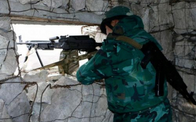Azerbaijani border posts, military vehicles intensively shelled by Armenian Armed Forces