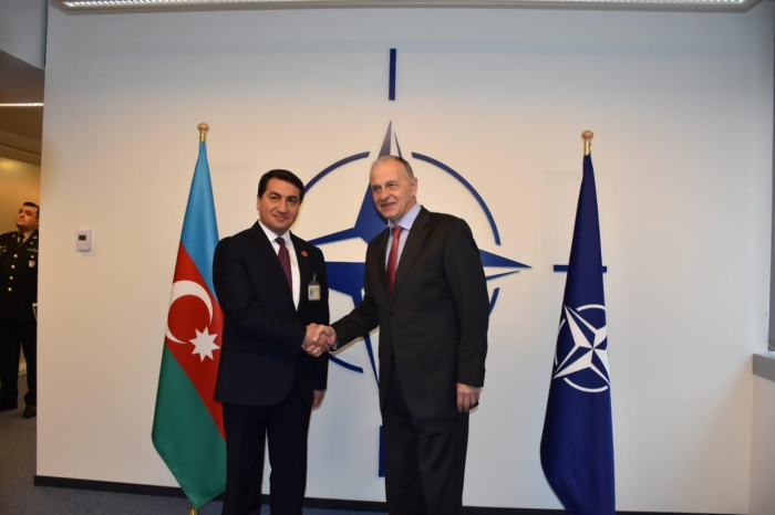 Hikmet Hajiyev visits NATO headquarters