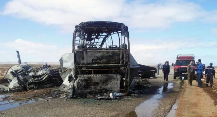Əlcəzairdə avtobuslar toqquşdu: 12 ölü, 46 yaralı