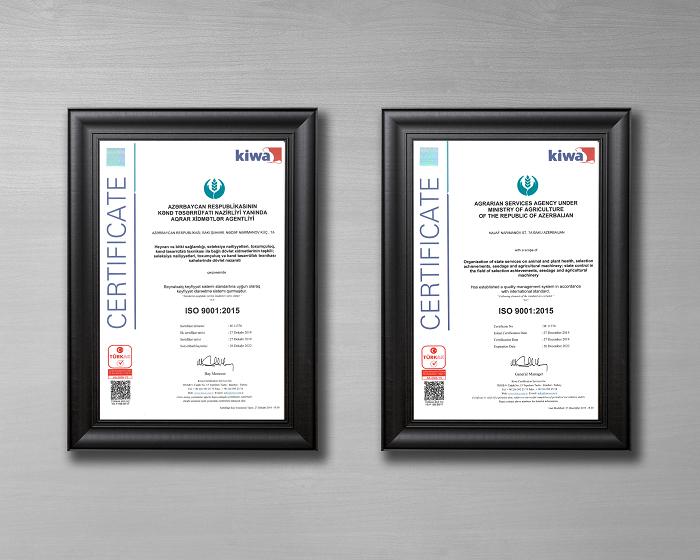 Agentlik beynəlxalq uyğunluq sertifikatına layiq görülüb