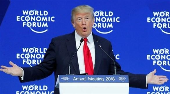 """ترامب يستعرض """"إنجازاته الاقتصادية"""" في دافوس"""