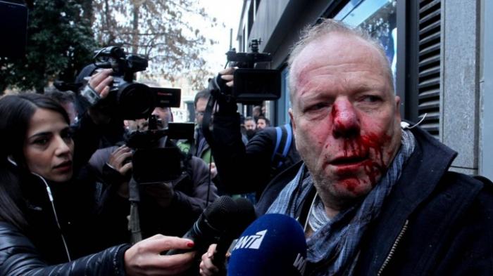 Deutscher Reporter bei Demonstration angegriffen