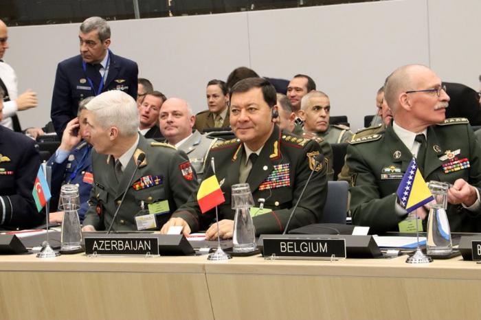 Nəcməddin Sadıkov NATO-nun Hərbi Komitəsinin iclasında - FOTOLAR