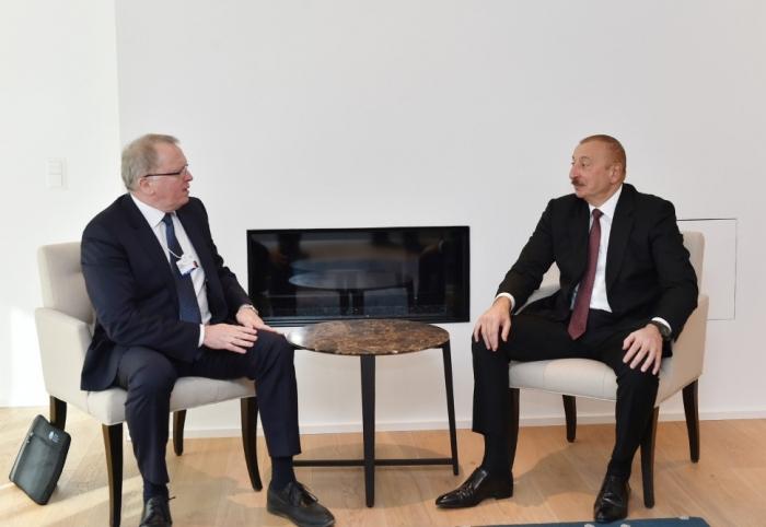 Ilham Aliyev a rencontré le PDG d