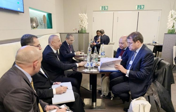 President Aliyev holds several meetings in Davos - PHOTOS