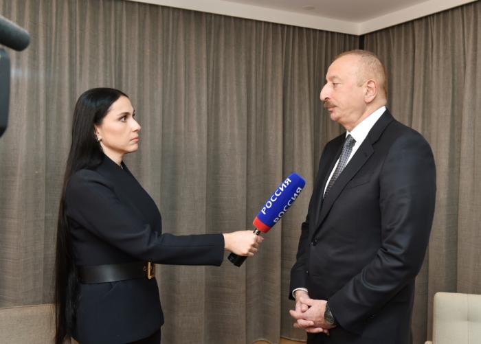 """Entrevista del Presidente de Azerbaiyán Ilham Alíyev al canal de televisión ruso """"Russia-24"""""""