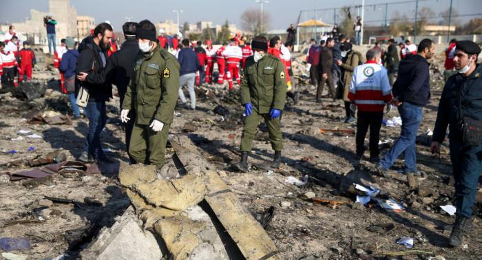 İran Ukrayna təyyarəsini iki raketlə vurub - Yeni VİDEO