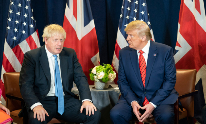 Trump agrees with British PM Johnson on a