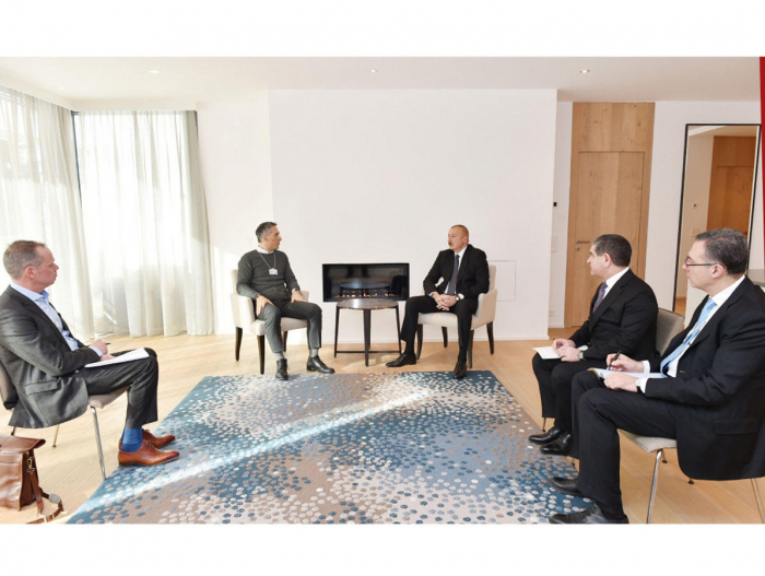 President Ilham Aliyev met with Chief Executive Officer of Signify in Davos