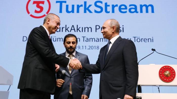 """Putin və Ərdoğan """"Türk axını""""nı işə saldı"""