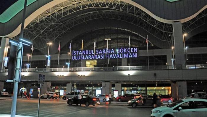 Sabiha Gökçen hava limanında qorxulu anlar yaşanıb - VİDEO