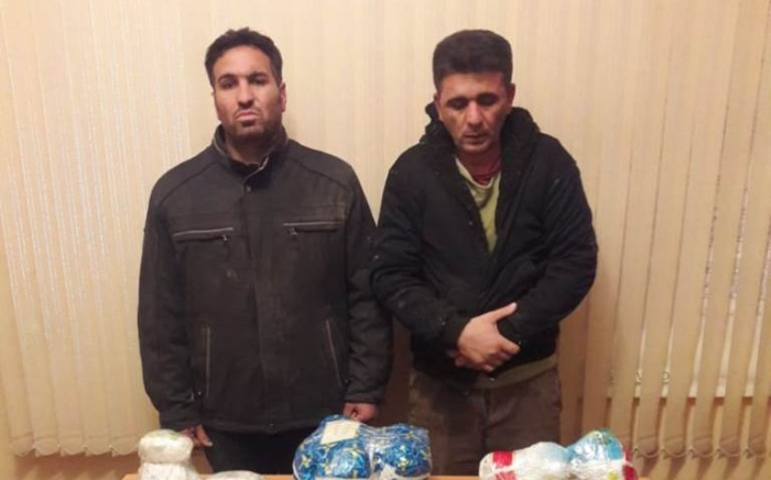 Sərhəddə 50 kq narkotik tutulub, 6 nəfər saxlanılıb - FOTOLAR