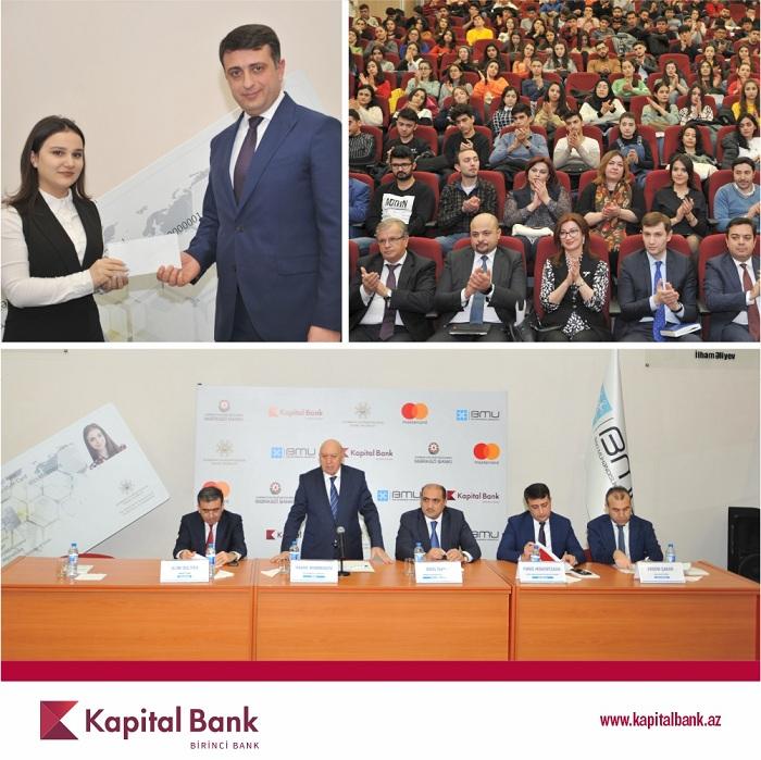 """Kapital Bank növbəti ali məktəbdə """"Smart tələbə kartı"""" təqdim etdi"""