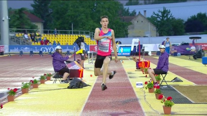 Azərbaycan atleti Minskdə qızıl medal qazandı