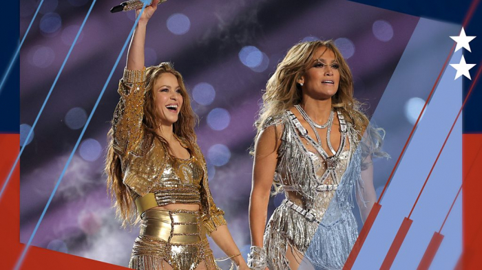 Jennifer Lopez and Shakira sparkle at the Super Bowl -  VIDEO  |  PHOTOS