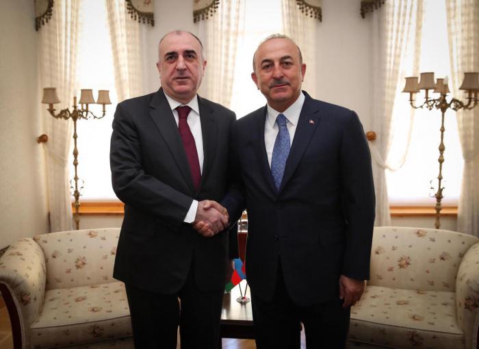 Azerbaijani, Turkish foreign ministers meet in Baku
