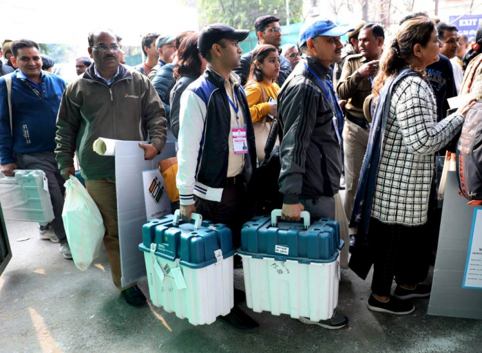 Delhi votes in first election test for Modi since protests began